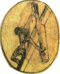 crucifix drawing john of the cross