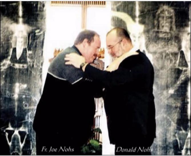 DONALD NOHS AND FATHER JOE NOHS