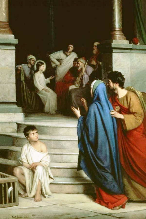 finding christ in the temple bloch