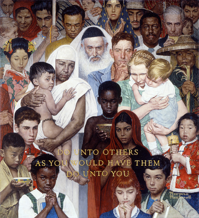 norman rockwell golden rule