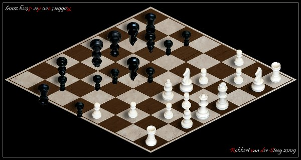 chess board robert van der steeg impossible world