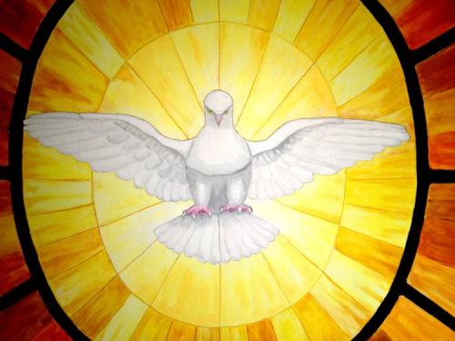 Holy Spirit Saint Peter Window