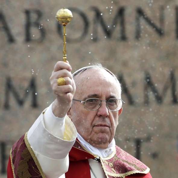 pope francis asperges