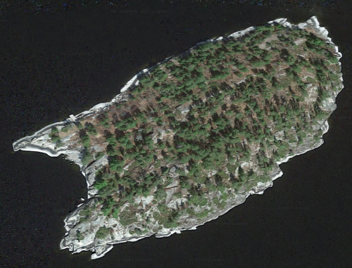 burnt island us-canada borderland