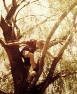 just me climbing tree