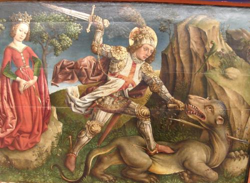 SAINT GEORGE SLAYING THE DRAGON Unterlinden Museum Colmar