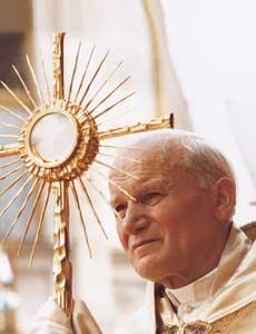eucharist pope john paul