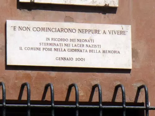 jewish ghetto rome children memorial