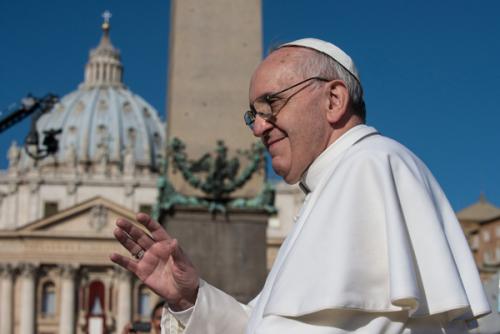 Pope Francis obelisk saint peter