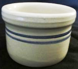 pottery white blue stripe