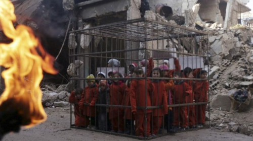 isis burning children