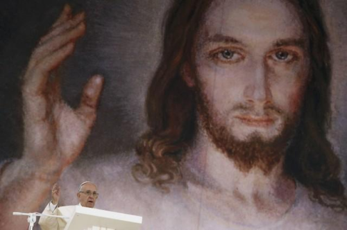 World Youth Day 2016 Pope Francis and Jesus