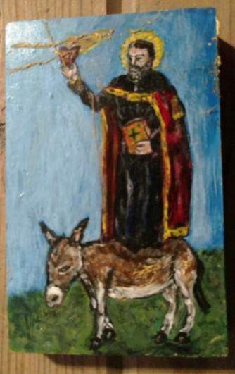 Saint Augustine donkey icon