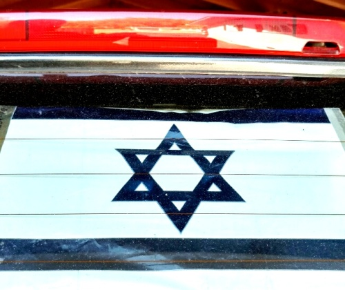 israeli-car-flag