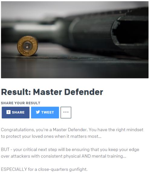 USCCA Master Defender