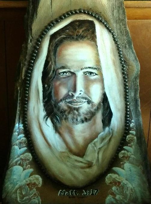 jesus baptism detail