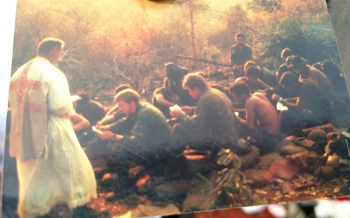 Mass after battle in Vietnam - Father Kevin Devine
