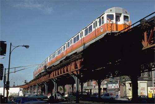 Boston El Train