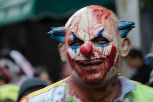 creepy clown