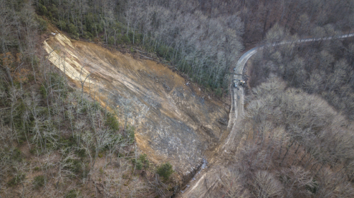 rock slide graham county nc highway 28