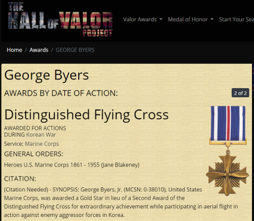 George Byers Jr Distinguished Flying Cross 2