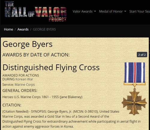 George Byers Jr Distinguished Flying Cross 2