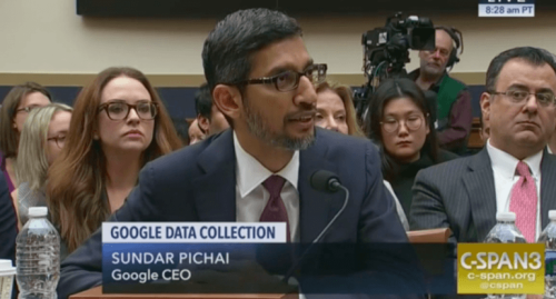 cspan google ceo sundar pichai data collection