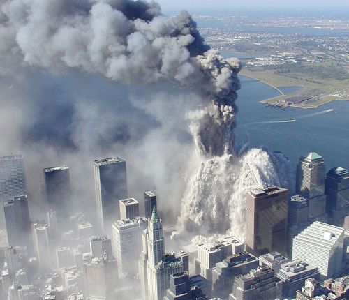 september 11 2001 twin towers falling