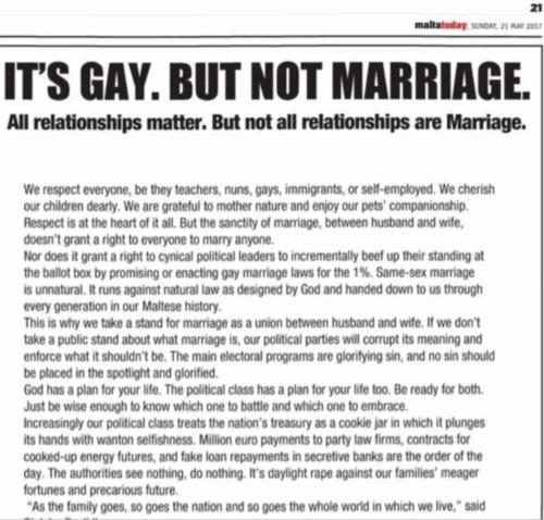 malta homosexuality