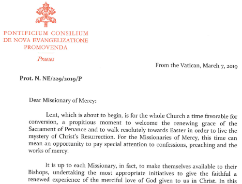 missionaries of mercy 2019 letter