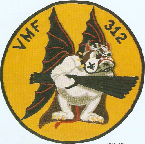 VMFA 312 Marine Fighter Attack Pilot Devil Dog six 50 cals