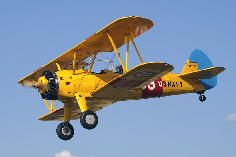 BOEING STEARMAN YELLOW BIPLANE
